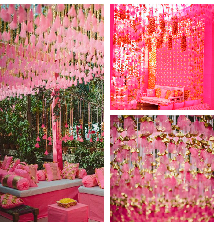 9 Times Pink Won Wedding Details :: Khush Mag