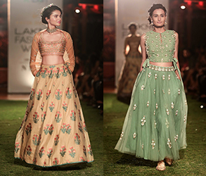 Anita Dongre, Songs of Summer, Lakme Fashion Week, India, Couture, Designer, Catwalk, Pastel, Floral
