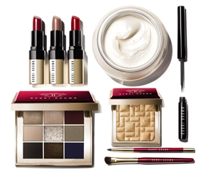 Bobbi Brown, Makeup, Party, Red, Gold, Metallic, Glow, Festive, Limited Edition