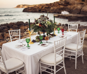 Beach, Wedding, Sea, Ibiza, Spain, Island, Decor, Pretty, Rustic
