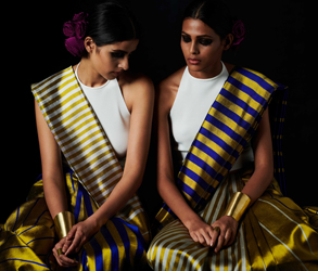 Payal Khandwala, Sari, Bridesmaids, Reversible, Sustainable, India. Designer, Couture