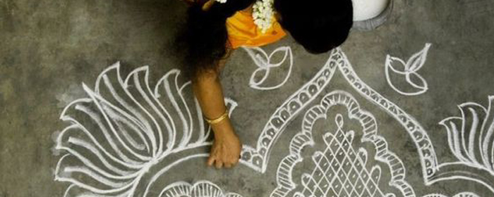 10 Pretty Rangoli Patterns