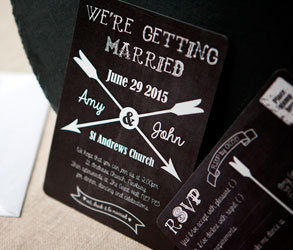 Save the date, Cards, Chalk board