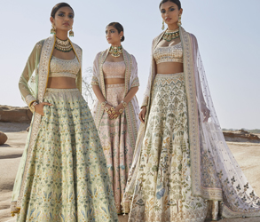 Anita Dongre, Couture, Limited Edition, Paint, Art, Bride, Flowers, Floral, Fashion, Style, Indian