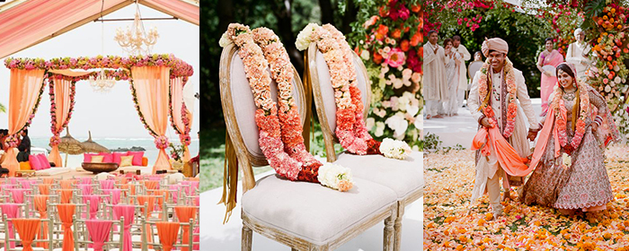 Colour your wedding coral