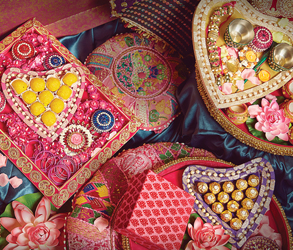 Mehndi, Party, Decor, Pink, Green, Trays, Cushions, Indian, Asian