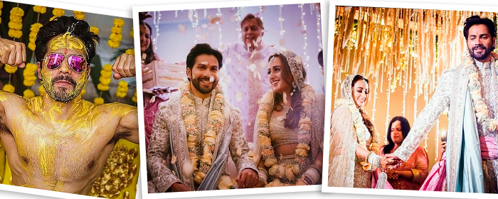 Inside actor Varun Dhawan and designer Natasha Dalal's beautiful wedding in Alibaug
