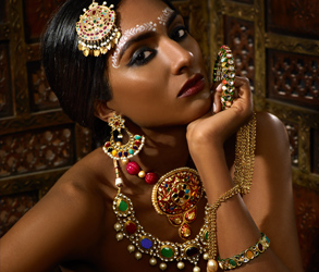 Jewellery, Gold, Traditional, Asian, Indian, Earrings, Chandbali